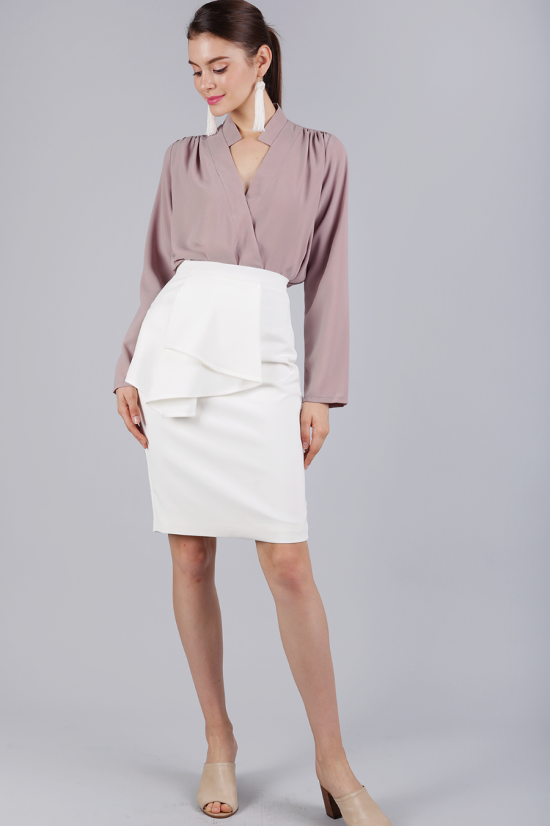 e92f66be32 Tessie Ruffles Front Skirt (White) | The Tinsel Rack