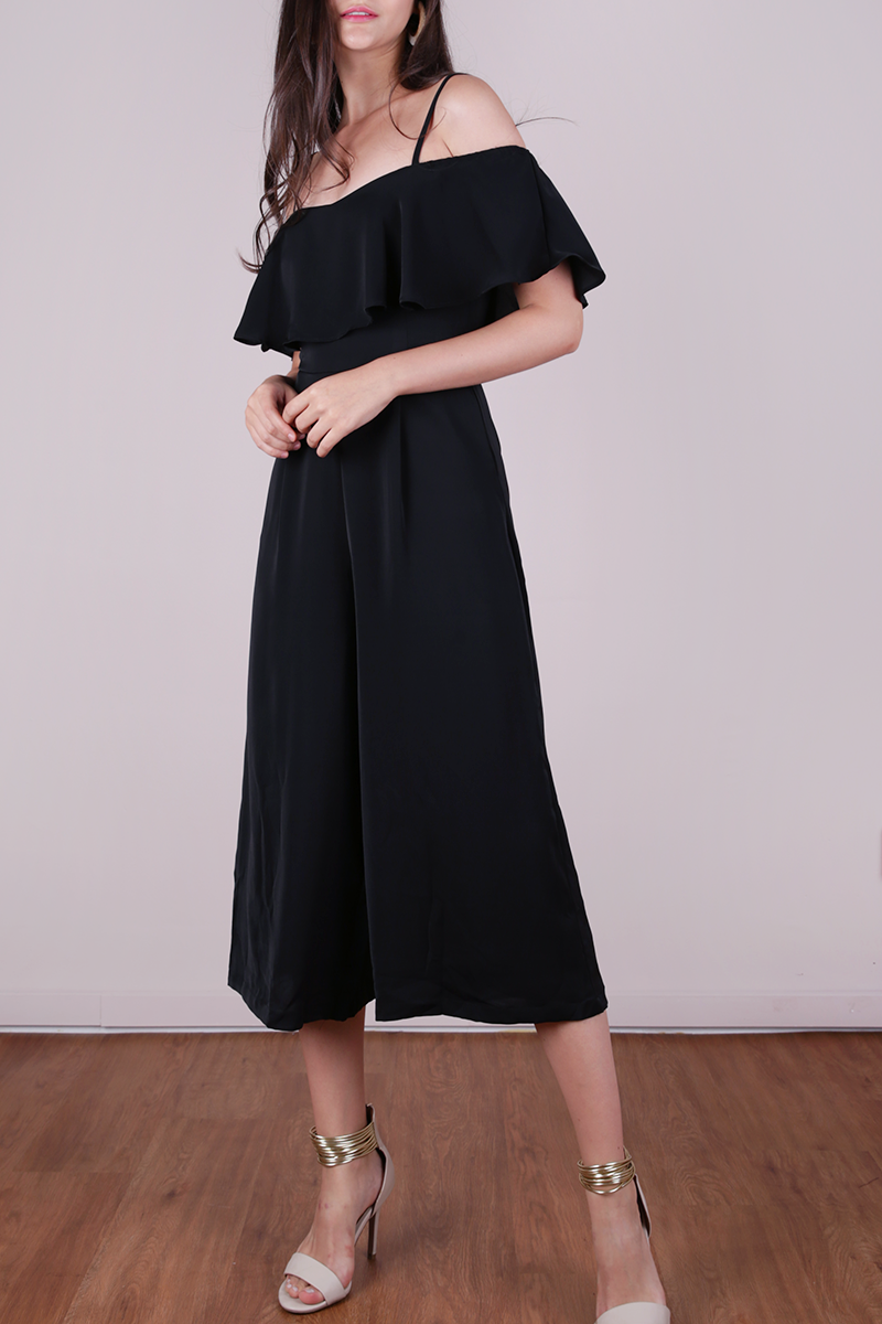 494d8dd56be6f8 Lucca Off Shoulder Jumpsuit (Black) | The Tinsel Rack