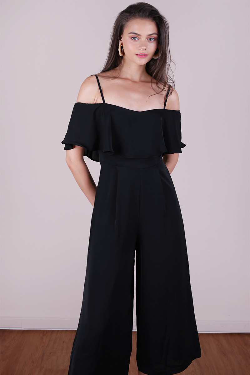 1c4ae8b77c Lucca Off Shoulder Jumpsuit (Black)