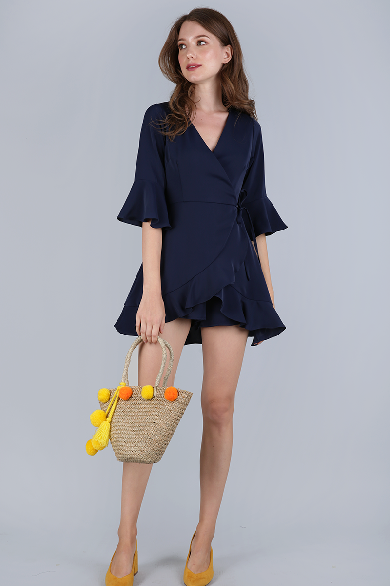 81062c4b6bf4 Hyacinth Frilly Romper (Navy)