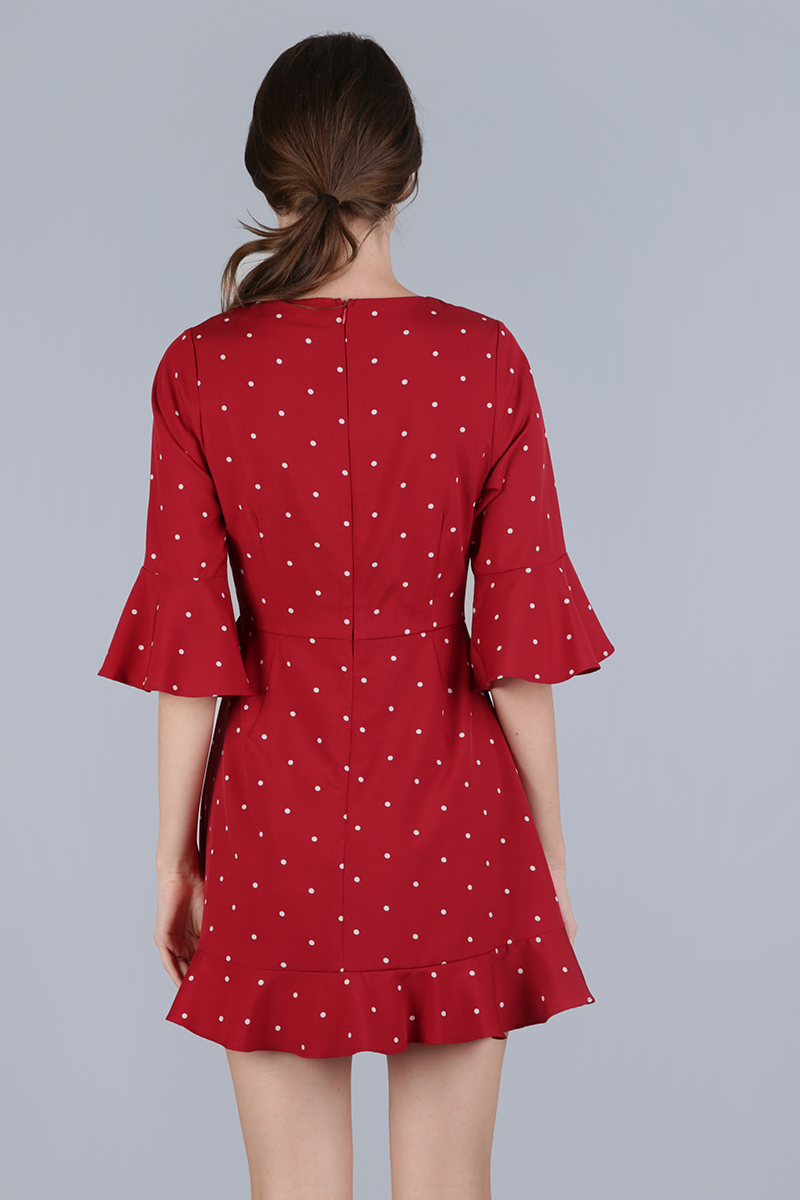 24f8336e3 Hyacinth Frilly Romper (Red Polka Dots) | The Tinsel Rack