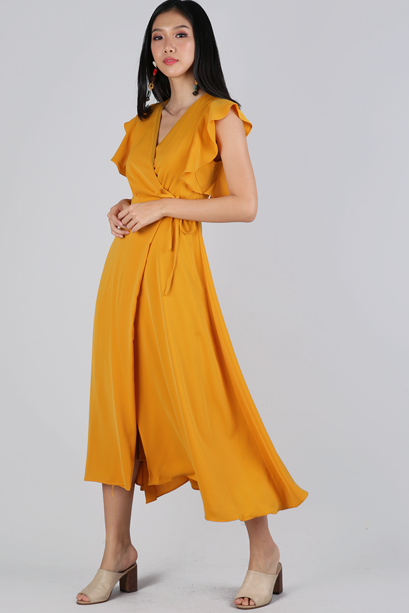 65b2b90eb2 Judith Wrap Front Maxi Dress (Mango) | The Tinsel Rack