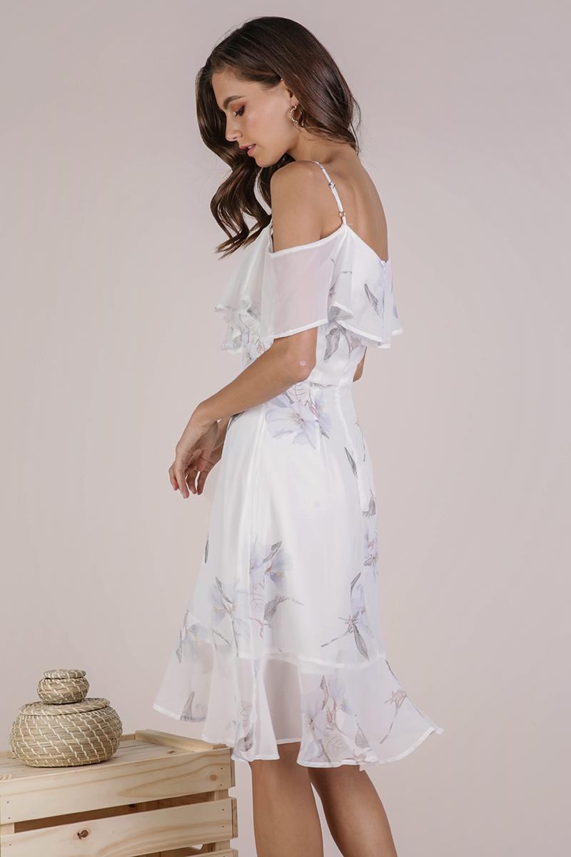 d34b6e6552e6 Sarah Off Shoulder Midi Dress (White Florals)