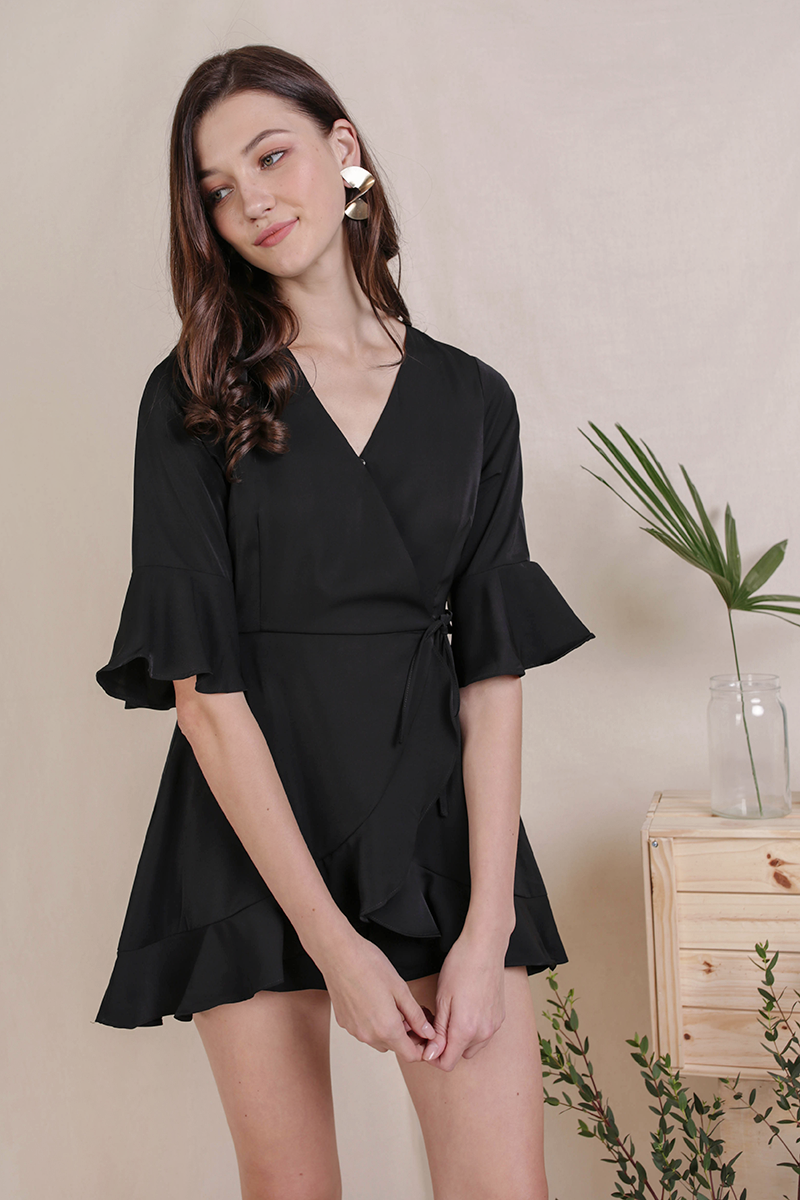 2865ff975e73 Hyacinth Frilly Romper (Black)