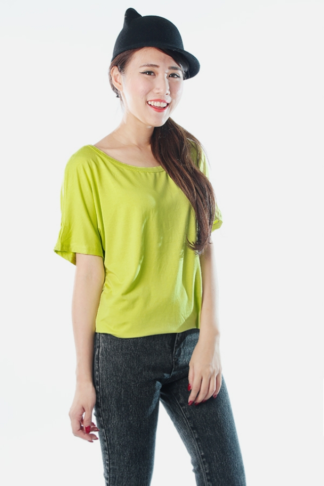 Caged Basic Tunic (Lime)