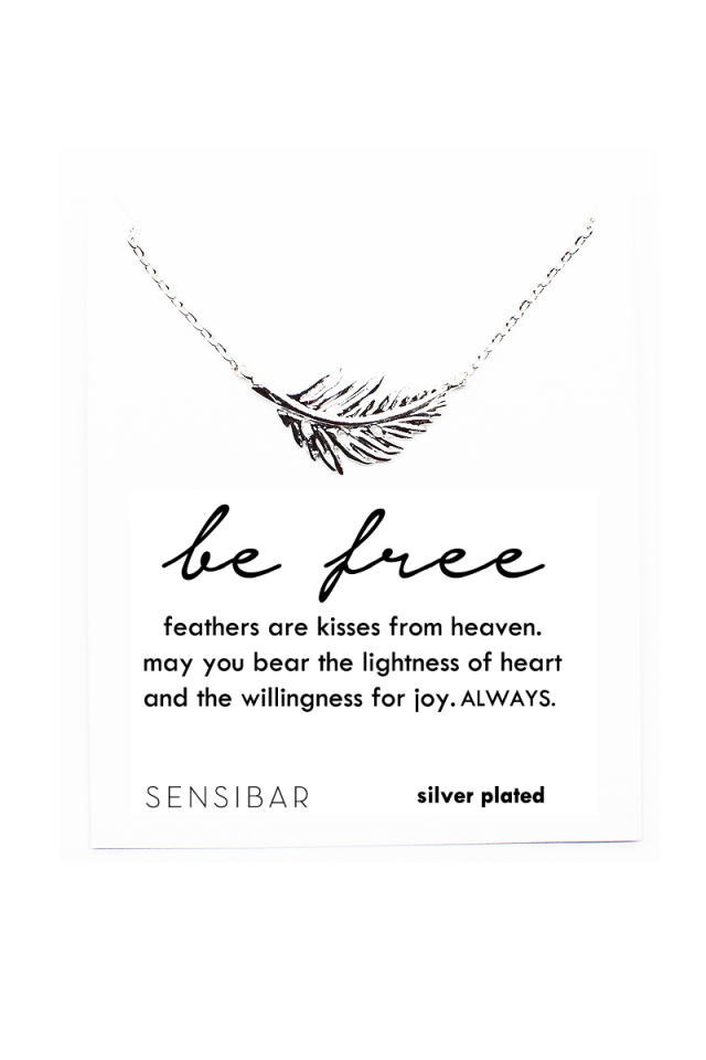 Be Free - Feather Necklace (Silver)