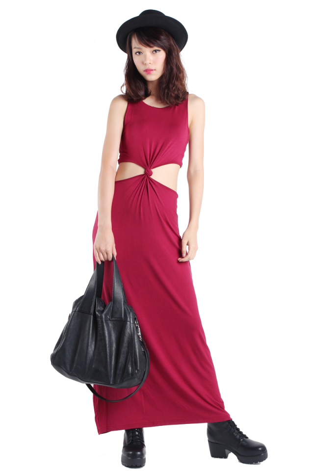 Très Cut Out Maxi (Wine Red)