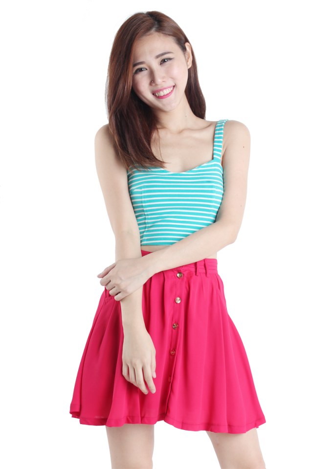 Good Girl Flare Skirt (Rose)