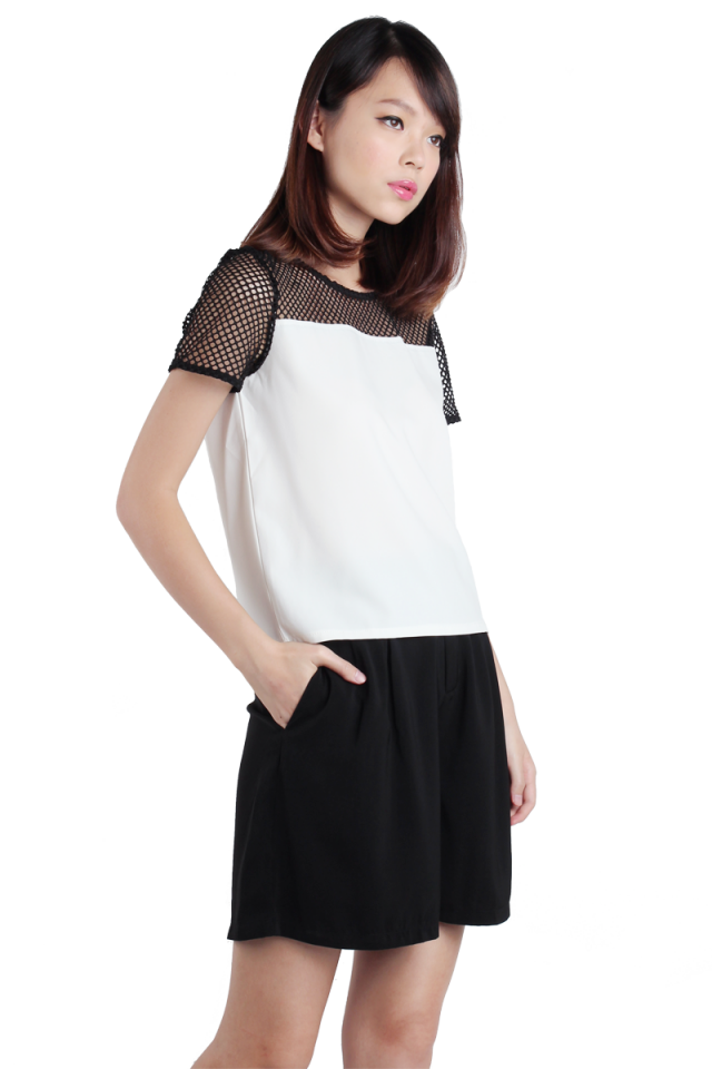 Nexus Netted Top (White)