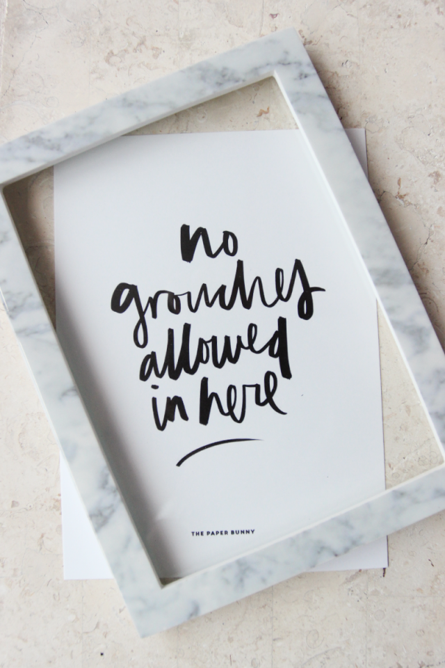 No Grouches Allowed Print
