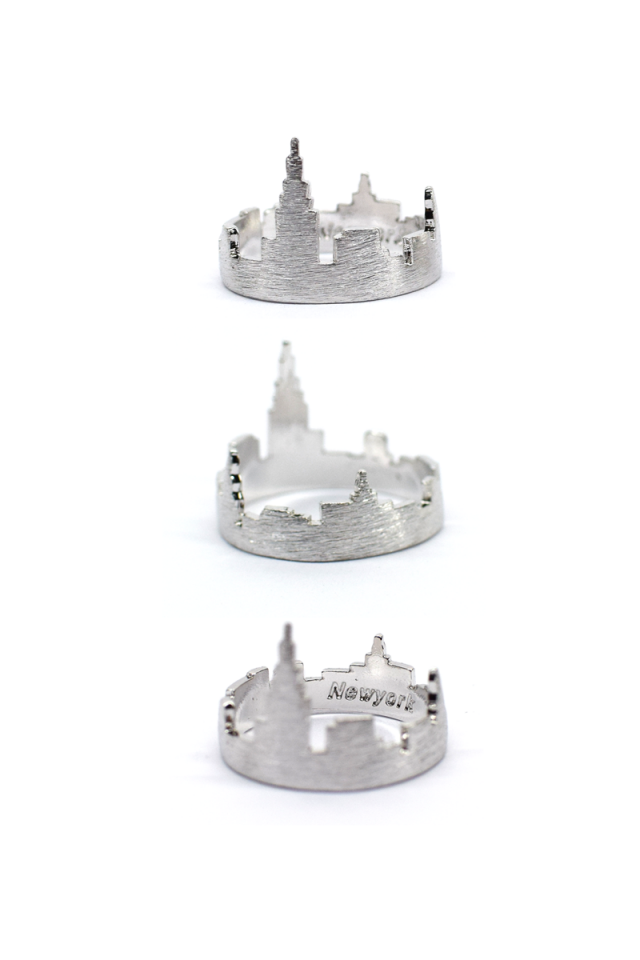 NEW YORK  Cityscape Ring (Silver)