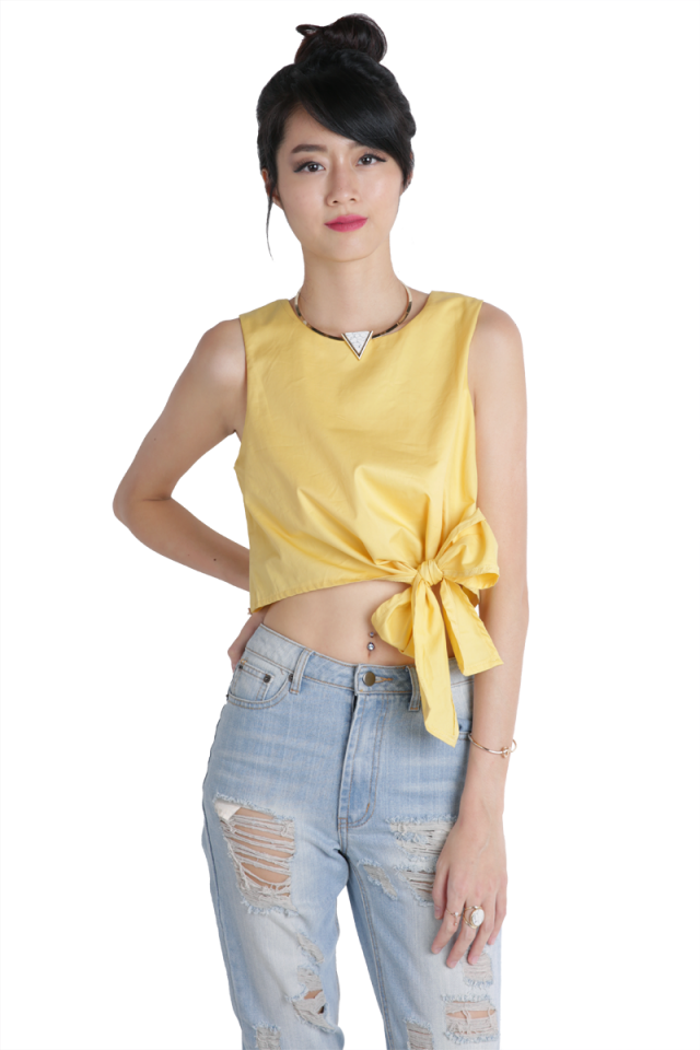 Tiara Bow Top (Buttercup)
