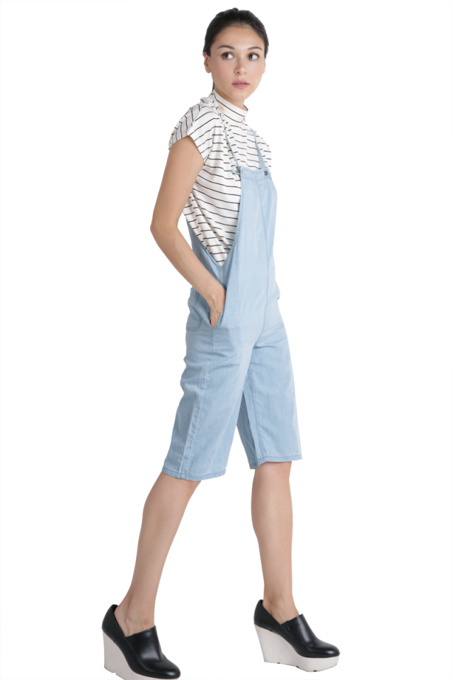 Dane Denim Overalls (Light Wash)