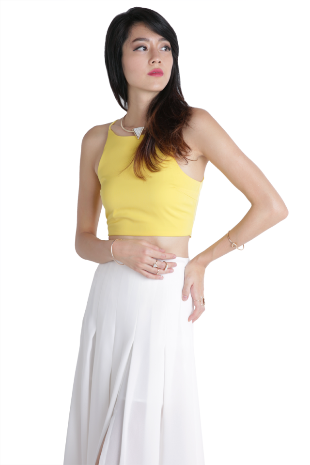 Dallas Cropped Top (Yellow)