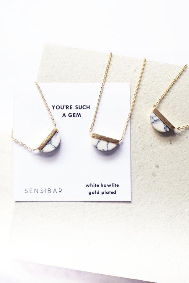 You're such a gem - Necklace (White Howlite)