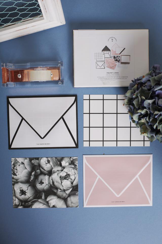 Velvet Lines Notecards