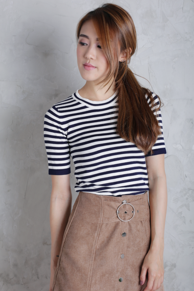 Fresh Knit Top (Stripes)
