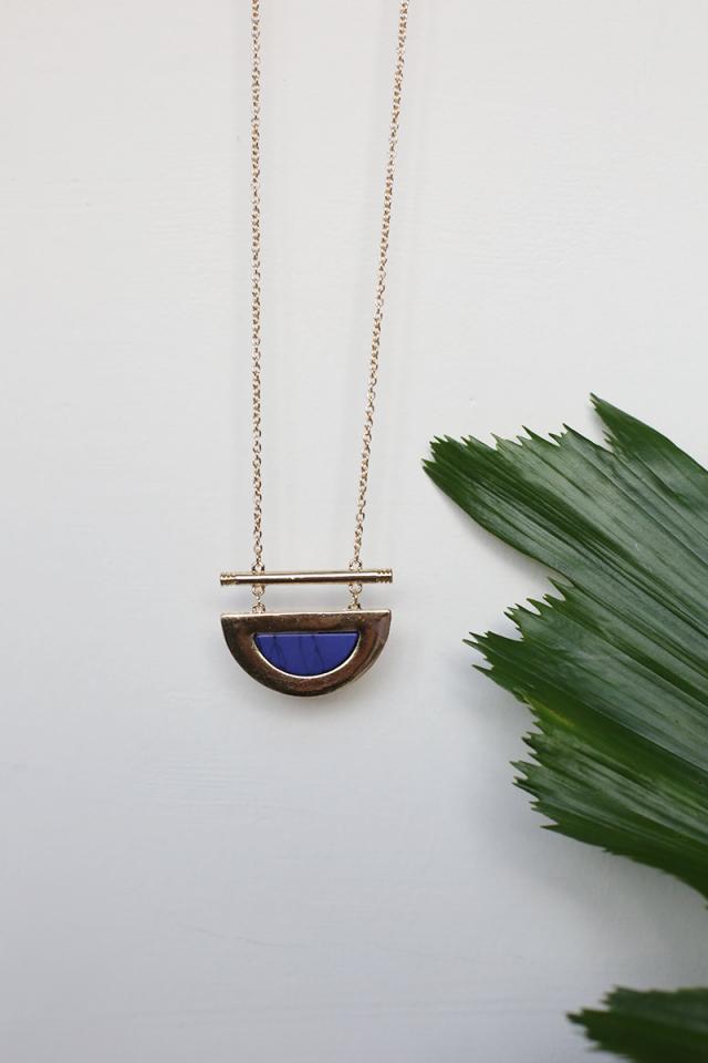 Layla Half Moon Necklace