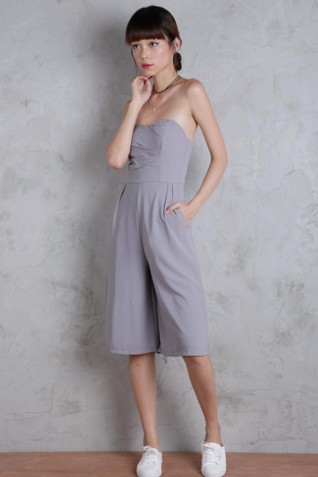 Darla Culottes Romper (Grey)