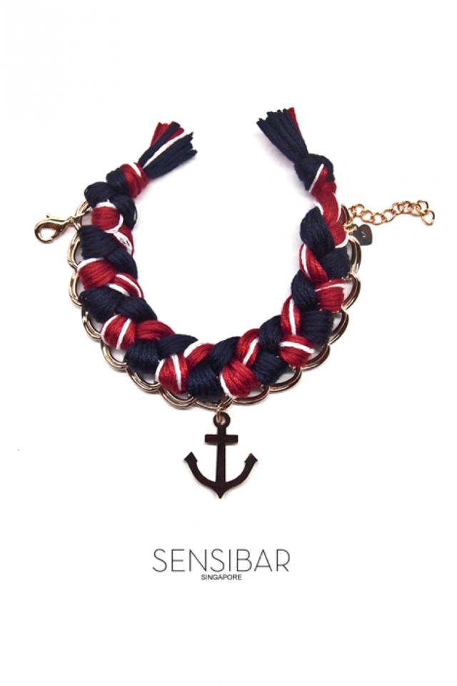 Woven Bracelet (Nautical Hues)