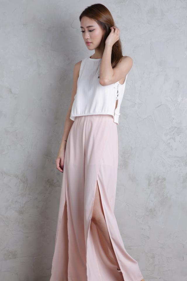 Stradun Split Pants (Blush)