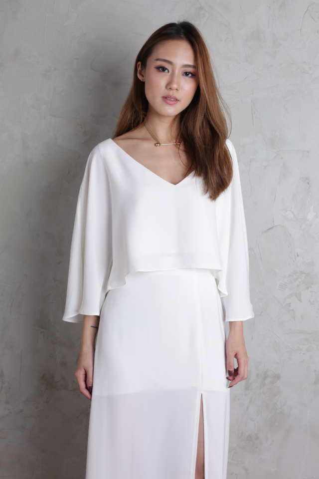 Sonya Flare Top (White)