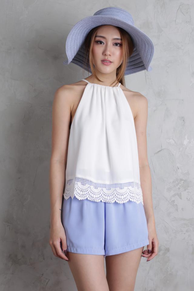 Petal Flare Shorts (Cornflower Blue)
