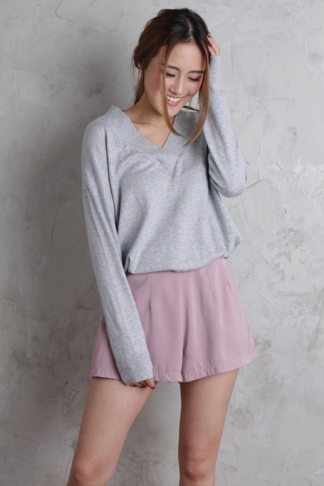 Petal Flare Shorts (Mauve Pink)
