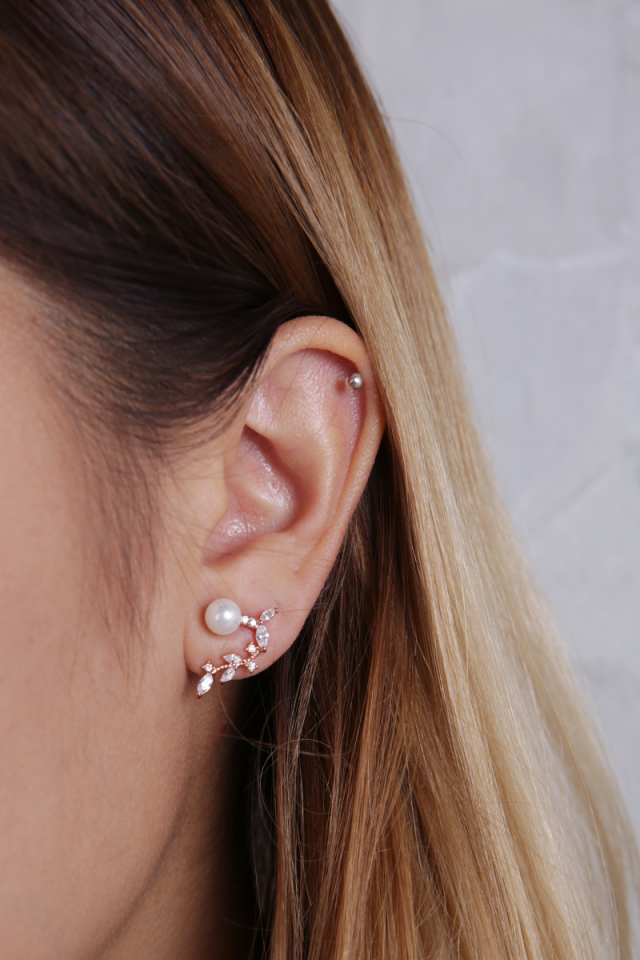 Theus Ear Crawler (Rose Gold)