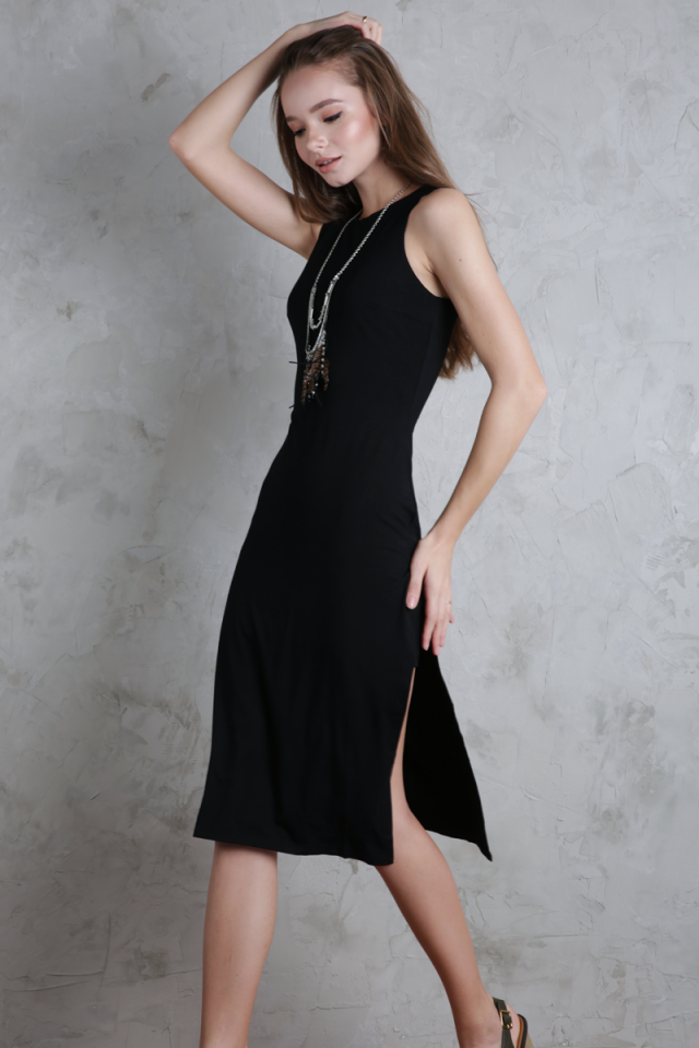 Floyd Midi Dress (Black)