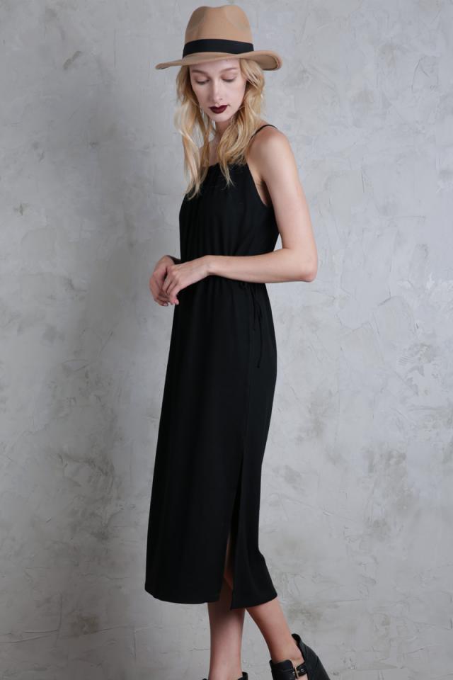 Rayne Midi Dress (Black)