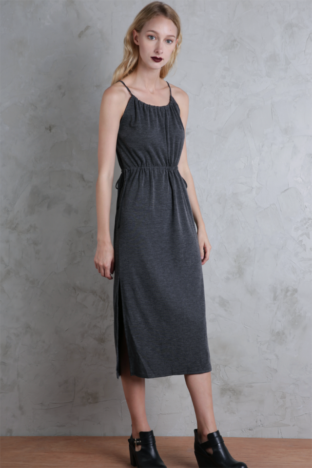 Rayne Midi Dress (Grey)