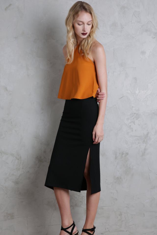 Lucia Knit Skirt (Black)