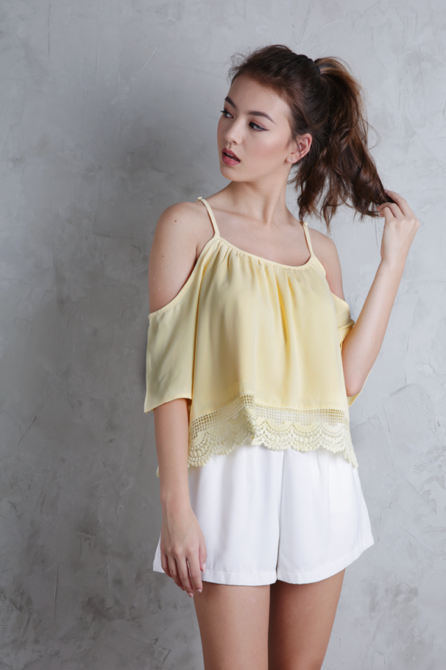 Ipanema Cold Shoulder Top (Buttercup)