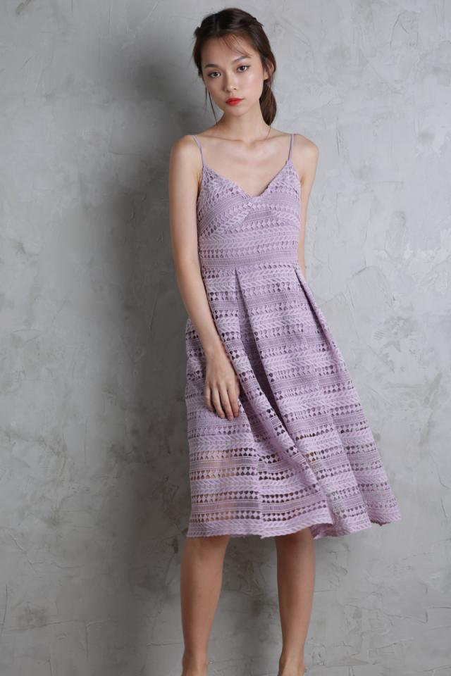 Eden Crochet Dress (Lilac)