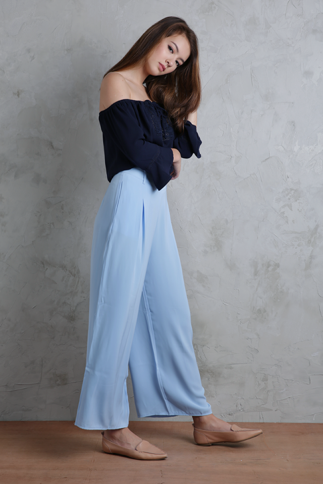 Bondi Flowy Pants (Sky Blue)