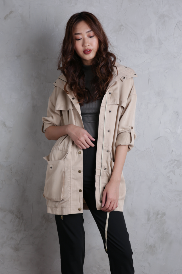 Oxford Oversized Parka (Khaki)