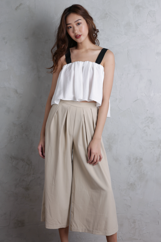 Anja Flare Top (White)