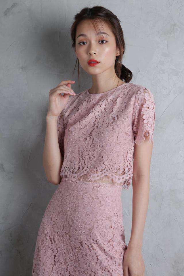 Paige Lace Top (Blush Pink)