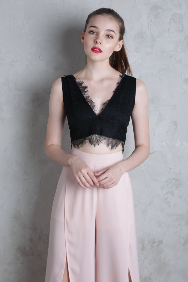 Gianna Lace Bralet (Black)