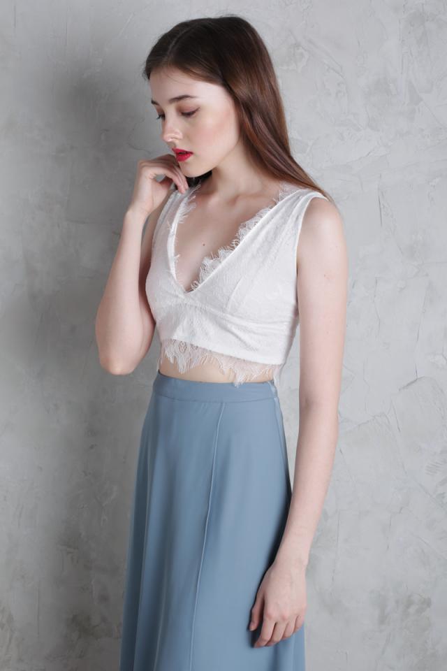 Gianna Lace Bralet (White)