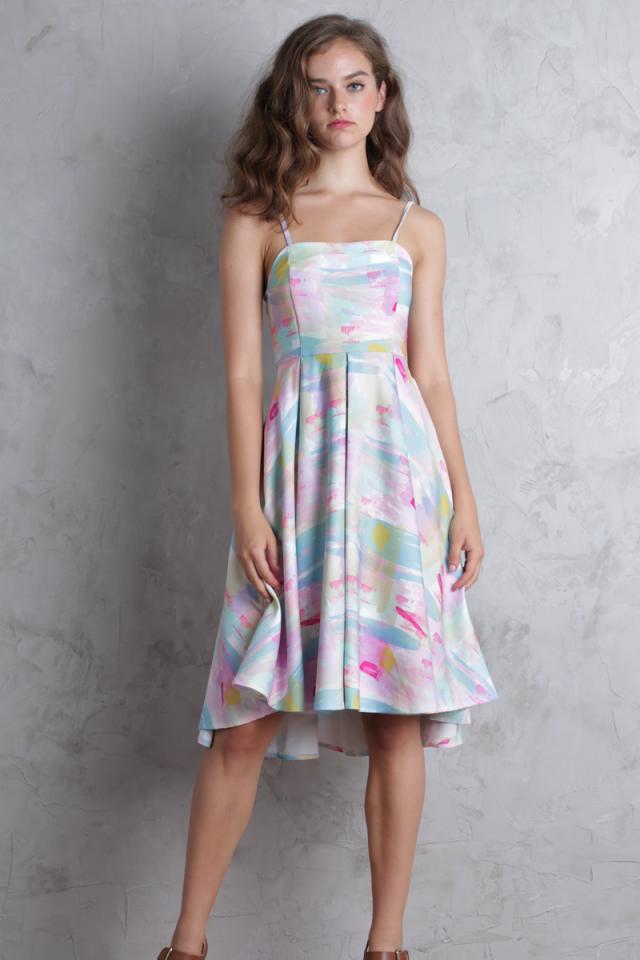 Valeria Midi Dress (Rainbow)