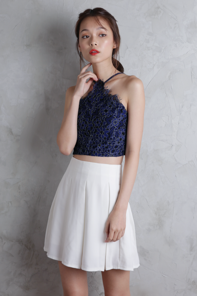 Rowan Lace Top (Navy)