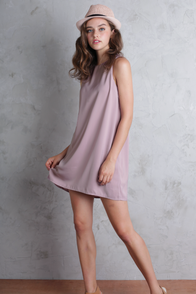 Blanc Swing Dress (Mauve Pink)