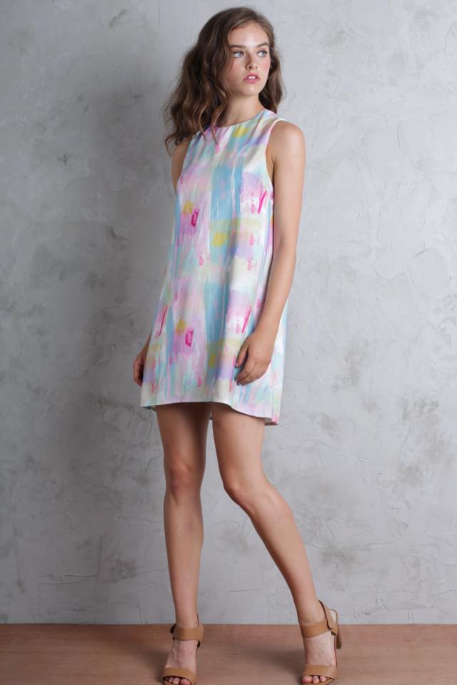 Blanc Swing Dress (Rainbow)