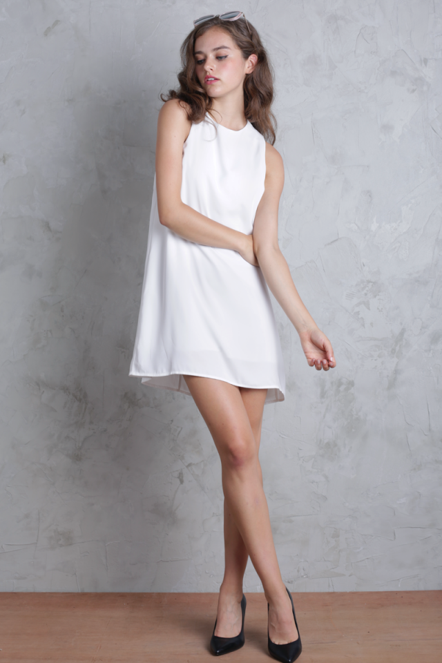 Blanc Swing Dress (White)