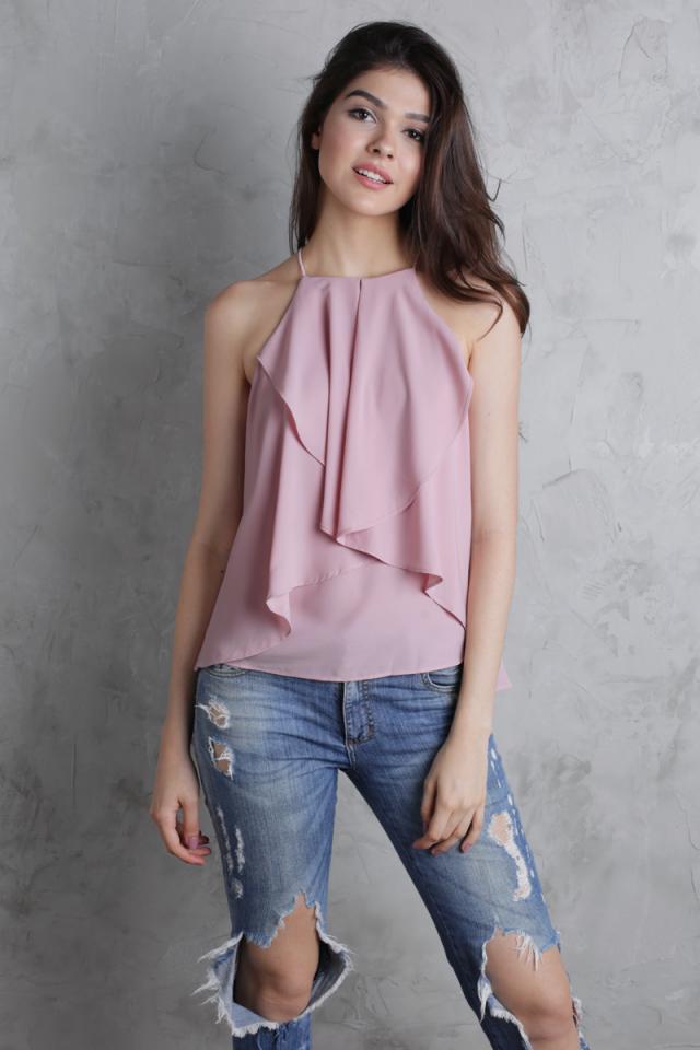 Layla Ruffles Top (Pink)