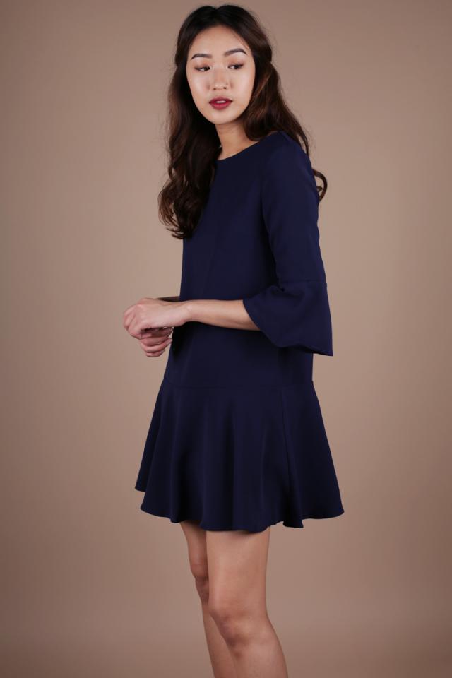 Hilary Flare Dress (Navy)