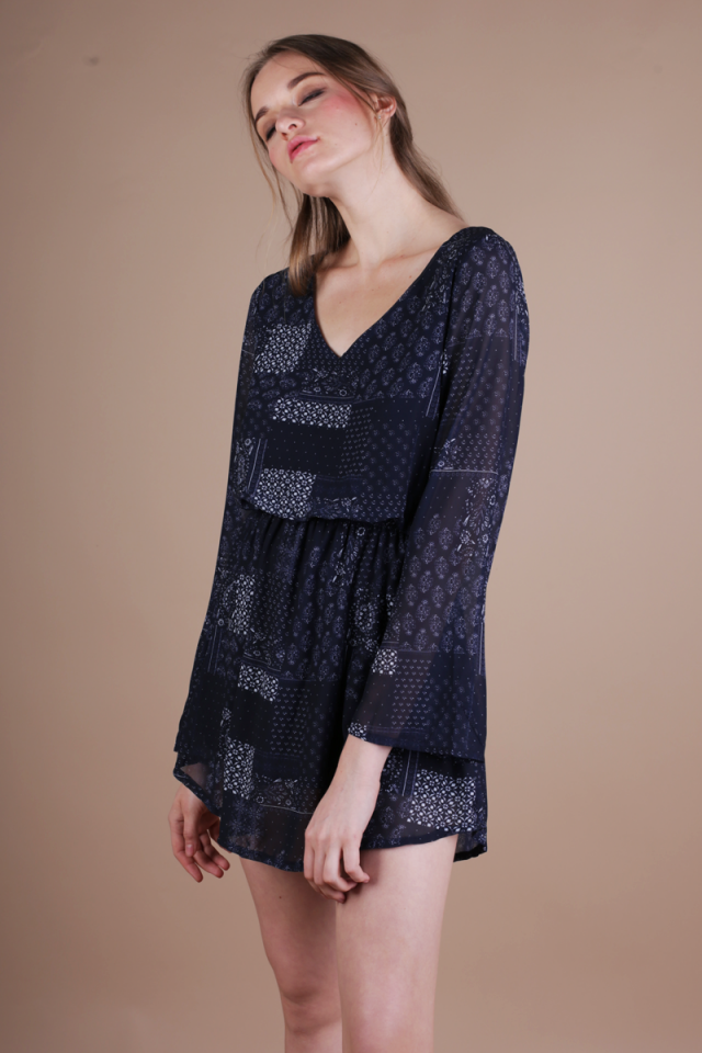 Tams Resort Dress (Navy)