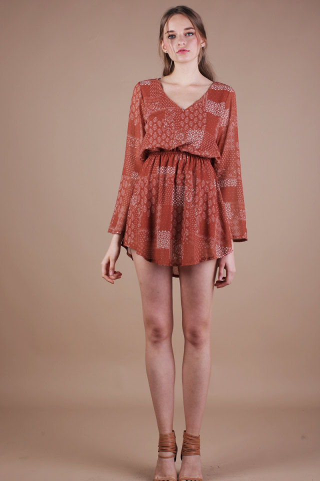 Tams Resort Dress (Rust)